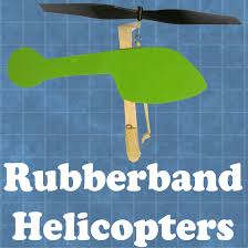 rubber band helicopters with pictures