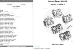 cummins engine signature isx qsx15 service manual repair manual