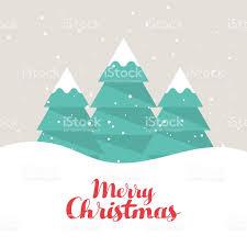 christmas trees postcard background flat design stock vector art