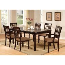 Kitchen Table Sets With Caster Chairs by Kitchen Table Rectangular 7 Piece Sets Solid Wood 4 Seats Espresso