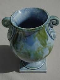 stangl pottery terra vintage stangl vase deco pottery terra leaf