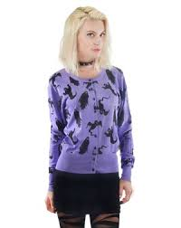 rat baby women u0027s pastel goth ghost ghoul halloween cardigan sweater