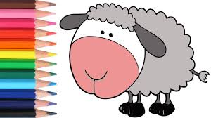 lamb coloring page learn colors learn coloring my favorite
