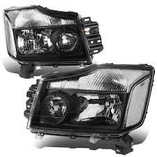 nissan titan fog lights 04 15 nissan titan 05 07 armada crstal headlights black clear