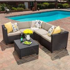 home loft concepts chia 6 piece sectional with cushion walmart com