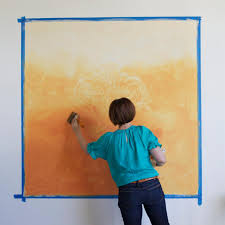 learn how to paint a stenciled ombre wall mural how tos diy step 5