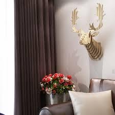 fallow reindeer head diy wooden wall home decor european animal