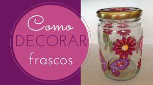 tutorial de decoupage en cristal frasco de vidrio decorado 5 decoupage con tela youtube
