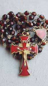 catholic gifts and more vintage enamel and glass rosary and rosary catholic