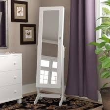 standing mirror jewelry cabinet free standing jewelry boxes you ll love wayfair