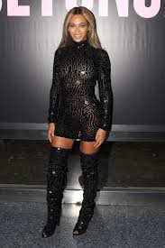 the hottest party dress and tall boots combo u2014ever glamour