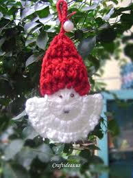 christmas crafts ideas crochet santa claus craft ideas