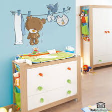 Mario Bros Wall Stickers Stickers For Kids Teddy Bear On Clothesline Wall Stickers For
