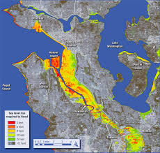 Downtown Seattle Map by Impacts Of Sea Level Rise On Seattle Wa Dan Mahr