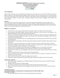 Sample Resume For Sap Abap 1 Year Of Experience by Sap Technical Consultant Cv