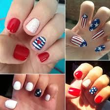 unique easy 4th of july nail designs