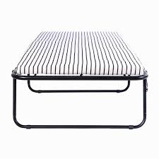 Folding Single Guest Bed Folding Metal Guest Bed Spring Steel Frame Mattress Cot Sleep