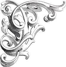 vintage corner scrolls design the graphics