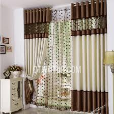 White Contemporary Curtains Modern Elegant Beautiful Brown And White Curtains