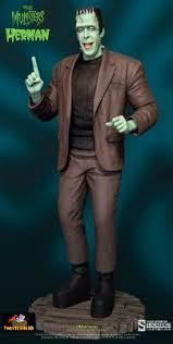 imagenes de la familia herman monster estatua herman munster 38 cm la familia monster sideshow collectible