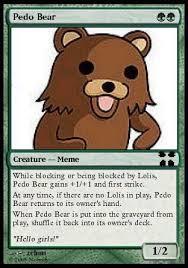 Meme Trading Cards - pedobear trading card
