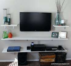 Floating White Shelves by Floating Tv Shelf Unit U2013 Appalachianstorm Com