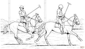 polo match coloring page free printable coloring pages