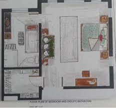 Hand Rendered Floor Plan Hand Rendering Varinder Kaur