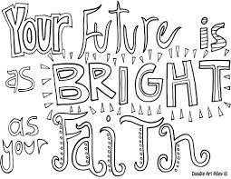 faith coloring pages religious doodles
