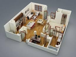 appartement avec une chambre plan chambre 3d frais 50 plans en 3d d appartement avec 1 chambres