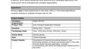 Desktop Support Engineer Resume Samples by Fresh Jobs And Free Resume Samples For Jobs Cv For Java Developers