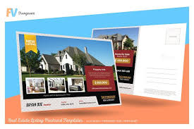 real estate listing template real estate listing postcard card templates creative market