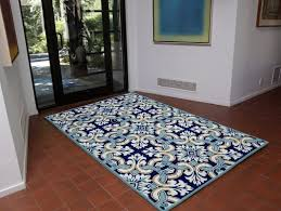 Tile Area Rug Bay Isle Home Demirhan Floral Tile Blue Area Rug Reviews Wayfair