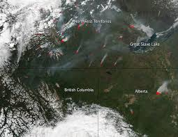 Saskatchewan Wildfire Evacuations by Canadian Wildfires Continue And Increase Nasa