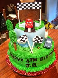 cars birthday cake themed birthday cake
