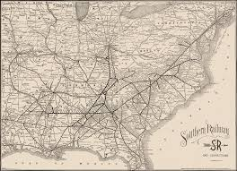 map us railways southern railway 1895 map