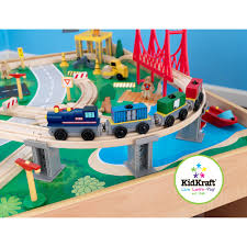 kidkraft waterfall mountain train set and table directions kidkraft waterfall mountain wood train set and table free shipping