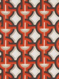 Geometric Orange Curtains Orange Geometric Upholstery Fabric By The Yard Contemporary