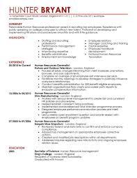 human resource resume human resource resume exles human resource sle resume human
