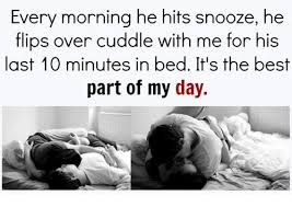 Cuddle In Bed Every Morning He Hits Snooze He Flips Over Cuddle With Me For His