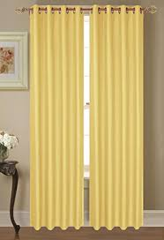 Yellow Faux Silk Curtains 4pc Faux Silk Curtain Drape Window Panel With Eight Grommets Fully