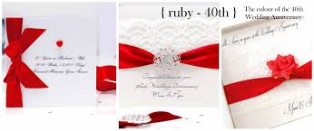 anniversary cards for handmade ruby wedding anniversary cards with the luxury touch for
