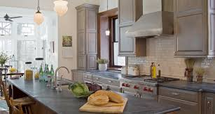 Kitchen Cabinets Grey Color by Amazing Notched Shape Black Color Soapstone Kitchen Countertops