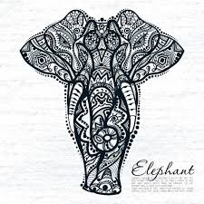 abstract elephant with indian ornament stock vector deedman