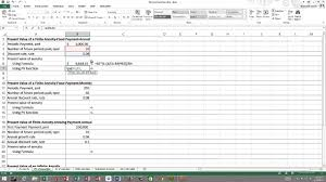 Future Value Of Annuity Table Calculating The Present Value And Future Value Of Annuities In