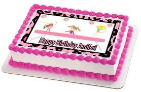 gymnastics cake toppers gymnastics zebra tumbling cake or cupcake topper edible
