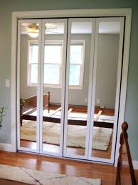 Mirror Doors For Closet Closet 6 Panel Bifold Closet Door Modern Unfinished Wood Closet
