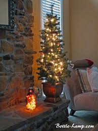 Christmas Craft Decor - decorating with christmas lights how to make a bottle lamp