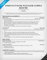 assistant bank manager resume resume samples across all