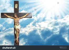 jesus christ paradise cross jesus christ stock photo 298467503